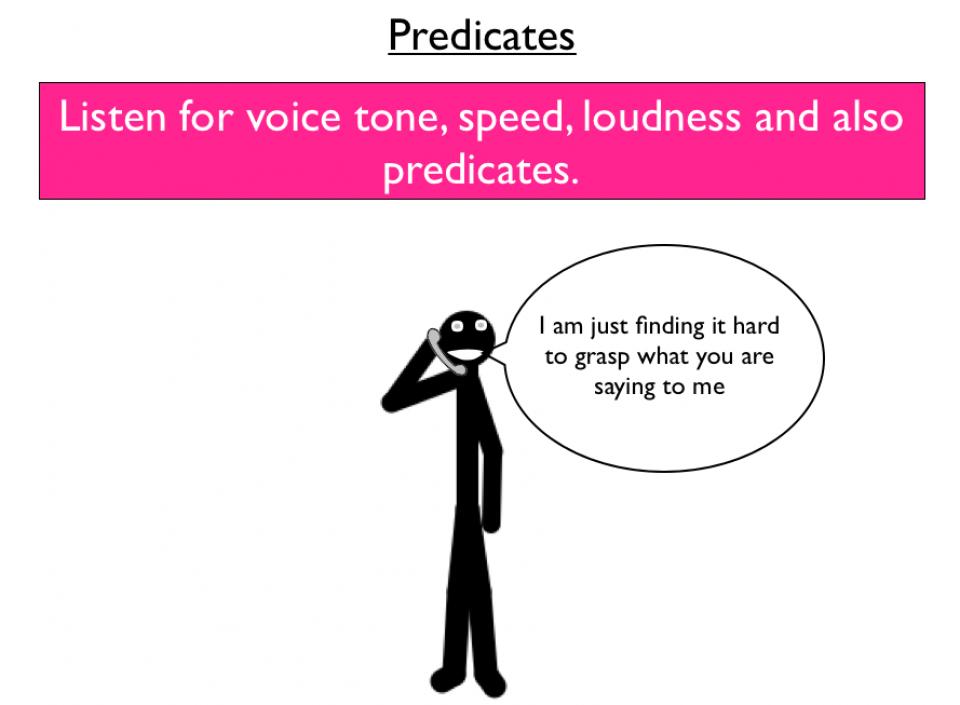 NLP Predicates - word patterns