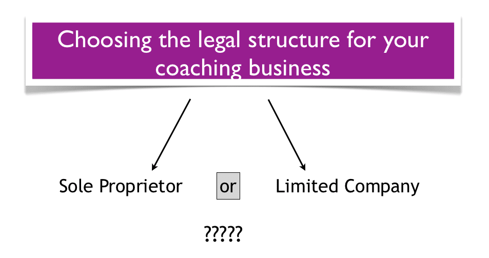 Choosing coaching practice legal structure