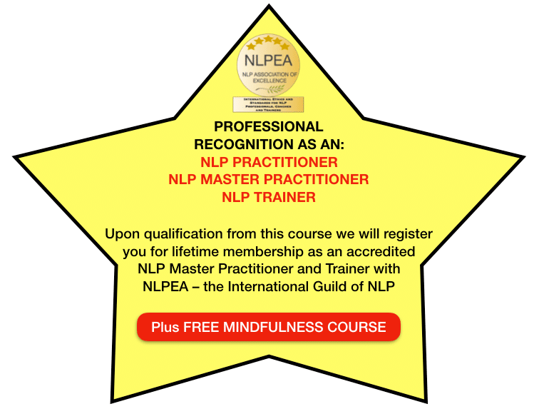 Professional Recognition as an NLP Master Practitioner & Trainer