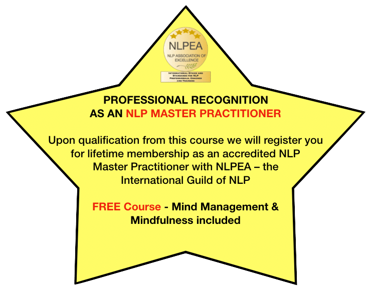 Professional Recognition as an NLP Master Practitioner