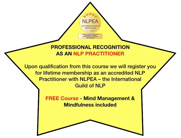 Professional Recognition as an NLP Practitioner