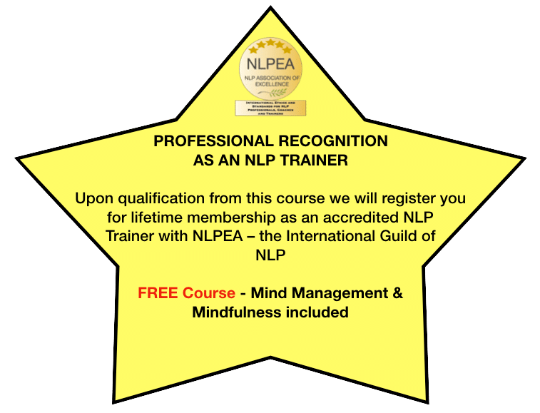 Professional Recognition as an NLP Trainer
