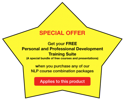 Special Offer on our NLP Training packages - Applies to this product