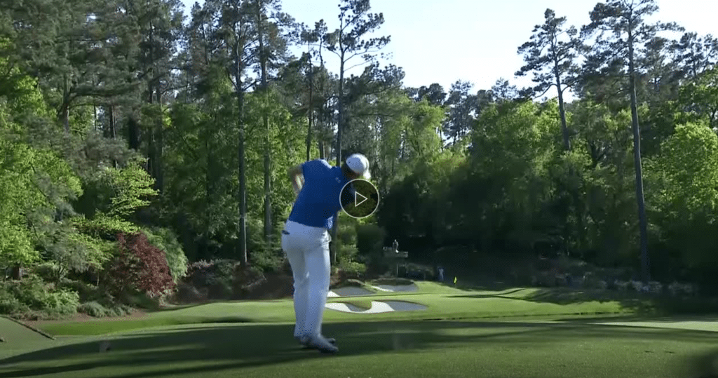 Spieth on 12th augusta
