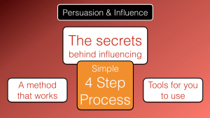 Secrets behind influencing