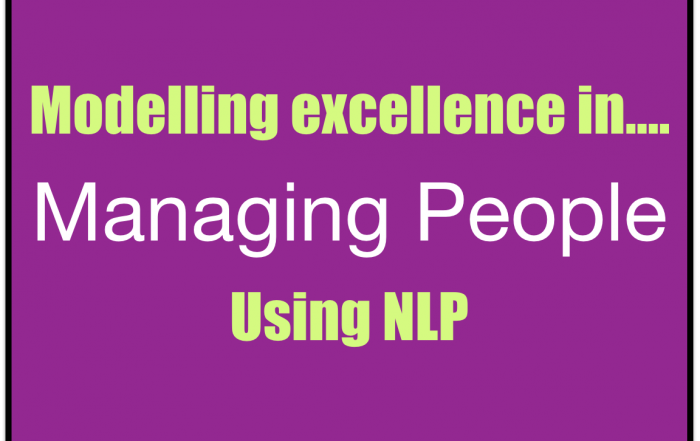 Managing people - NLP modelling