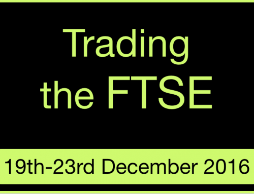 Trading on the FTSE index | 19th to 23rd December 2016