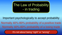 The law of probability in trading