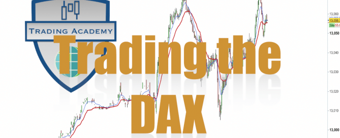 Trading the open on the DAX   1 minute chart