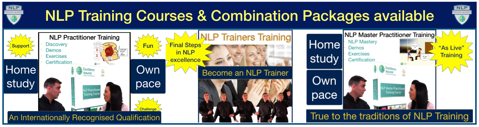 NLP Training Courses & Combination Packages at Excellence Assured NLP Training Academy