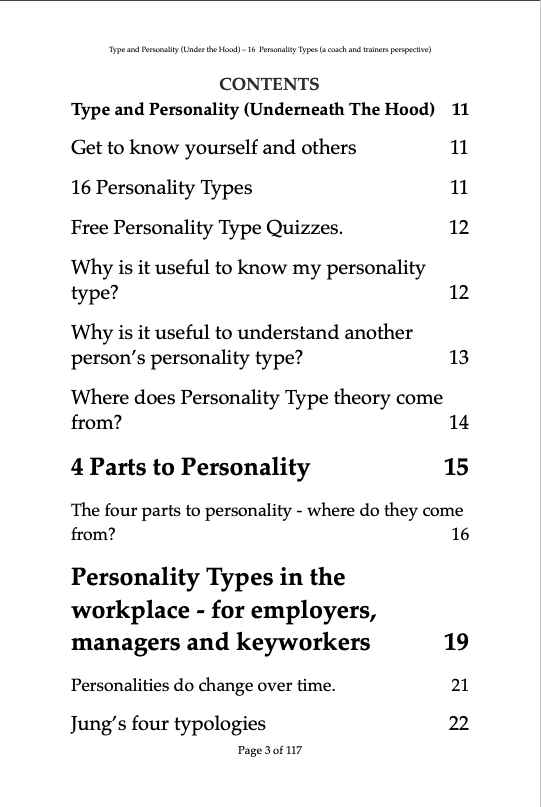 Type & Personality under the hood C1